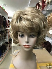 new vogue dark blonde with blonde highlights layers flips short synthetic wig