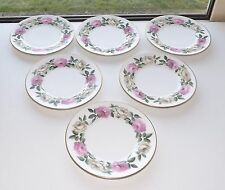 Royal Worcester Royal Garden No Inner Ring Pink & White Rose 6 Side Plate 15.5cm