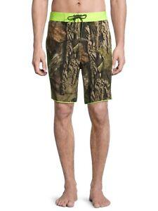 Mossy Oak Mainline - MEN'S 3XL - Swim Trunks BOARD SHORTS -  Camo & Neon Yellow