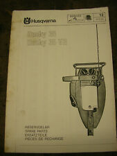 Husqvarna Husky 35 chainsaw dealer parts list 1970's