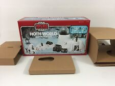 brand new star wars micro collection hoth world box + inserts