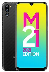 """Samsung Galaxy M21 2021 Edition (64GB, 4GB RAM) 6.4"""" 48MP-Cam Dual-Sim Phone"""