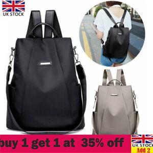 Women Anti-Theft Backpack Waterproof Rucksack Ladies School Travel Shoulder Basx