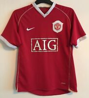 """Manchester United home football shirt size M/39""""-41"""" Nike 2006-2007"""