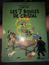 Rare - 1966 - Tintin - EO - B36 - Les 7 boules de Cristal - Dos jaune