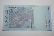 (PL) NEW: RM 1 XF 0000040 UNC 5 ZERO NICE FANCY SUPER LOW ALMOST SOLID NUMBER