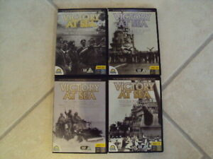 WORLD WAR TWO VICTORY AT SEA DOCUMENTARIES, 4 DVD'S