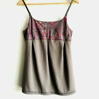 Lole Lozere Athletic Tank Top Womens Medium Yoga Built in Bra Wicking Gray M