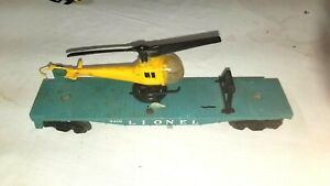 Vintage Lionel 3410 USMC Operating Helicopter Car O (9386)