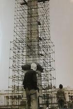 Photo presse vintage KEYSTONE Obélisque de la concorde nettoyage Paris monument