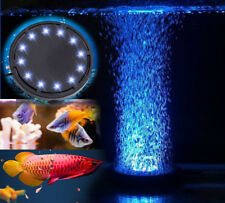 Aquarium Fish Tank 10cm Air Curtain Bubble Stone Disk with 12 Blue LED Light