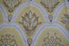 Schumacher Fabric FLEURS FLAMMES Yellow Brown Floral 2 yards long