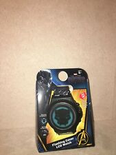 Black Panther Flashing Cover LCD Watch Kid's