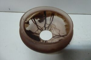 ANTIQUE ART NOUVEAU HAND PAINTED SILHOUETTE GLASS LIGHT SCONCE LAMP SHADE
