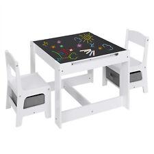 Kindersitzgruppe mit Stauraum Maltisch Kindertisch mit 2 Stühlen Kindermöbel Set