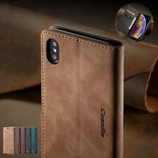 Fur iPhone 6 6S 7 8 Plus XS MAX XR X Magnet Leder Hülle Handy Tasche Schutz Flip