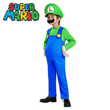 Super Mario Luigi Brothers Nintendo Video Game Boys Fancy Dress Costume Cosplay