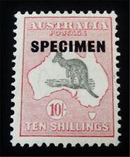 nystamps British Australia Stamp # 127 Mint Og H Normal $600 Specimen J15y1952