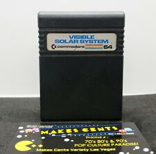 Commodore 64/128: VISIBLE SOLAR SYSTEM - C64 Cartridge - Tested - FREE Shipping