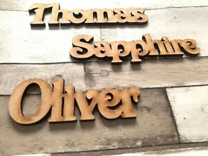 Wooden Name Personalised Names Wedding Words Letters Place Names Scrapbook Craft