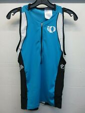 Euc Pearl Izumi Elite In-R-Cool Blue Black Triathlon Skinsuit Singlet Size Small