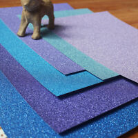 30 Sheets A4 Glitter Sequins Card Shades Holographic Metallic Scrapbook Paper