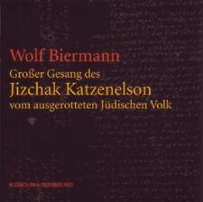 WOLF BIERMANN - GROßER GESANG DES JIZCHAK KATZENELSON 2 CD NEU