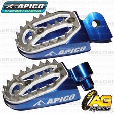 Apico Pro Bite Blue Wide Footpegs Pegs For Yamaha YZ 65 2018-2019