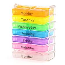 Boite Casier Coffret de Rangement Pilules / 7 tiroirs 7 Jours Pilules Médicament