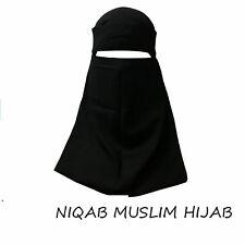 Niqab Hijab Muslim Veil Face Cover Islamic Burqa Nikab ONE-layer