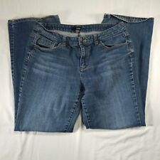 Womens A.N.A. (a New Approach) Denim Jeans Size 12 Relaxed Bootcut Wide Ankle