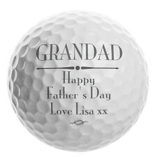 Personalised Golf Ball Keepsake Birthday Grandad Fathers Day Wedding Gift