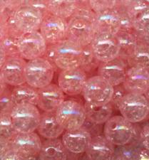 20pcS 10mm Pink AB Chunky crack Beads Jewelry Pendant Bubblegum Necklace