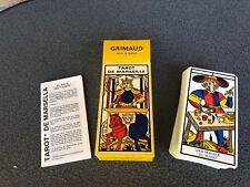 Grimaud - 1986 tarot de Marseille-NEUFS de collection résolution Top Tarot