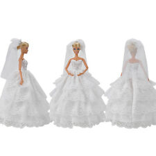 Doll Clothes Wedding Dress Evening Party Gown Accessories for Girl Dolls S