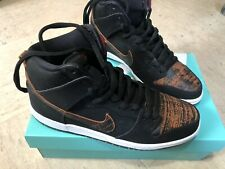 Nike Sb Dunk High Pro Sneakers Black University Red Orange Size 11 New With Box
