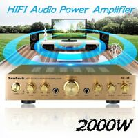 Sunbuck 338BT 2000W 110V  5Ch bluetooth Power Amplifier HIFI AMP Stereo FM 2  Q