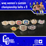 9 x Custom WWE WWF Women's Championship Belts for Mattel/Jakks/Hasbro Figures