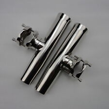 """Hot 2PCS Tournament Style Clamp On Fishing Rod Holder For Rails1-1/4"""" to 2"""" Well"""