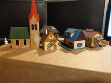Konvolut FALLER No.11/12  No.41 No.61b Kibri A973  H0 Wohnhaus Kirche 5x