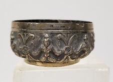 Antique South East Asian Silver Repousse Bowls Deities Good Dish