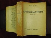 CHARLES DU BOS: APPROXIMATIONS/FRANCE/SCARCE 1937 SIGNED