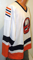vtg NEW YORK ISLANDERS Shoulder Patch Jersey LARGE 90s CCM nhl ny canada made L