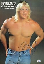 Barry Windham Signed Pro Wrestling Illustrated Centerfold Poster PSA/DNA WWE PWI