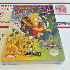 The Simpsons: Bart vs. The World - NEW! Factory Sealed Nintendo NES NIB VGA CIB