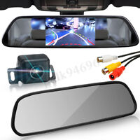Wireless Car Rear View HD LED Reversing Camera & 4.3'' LCD Mirror Monitor Kit <