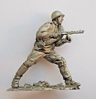 1/32 Soviet USSR Russian WWII Private in Attack Tin Metal Soldier 54mm handmade