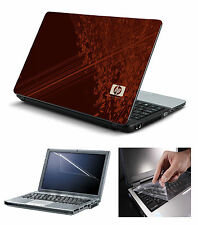 Laptop Skin HP Brown with Screen Guard and Key Board Protector (3in1 Combo)15.6""