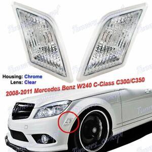 Clear Bumper Side Marker Lights For 2008-2011 Mercedes Benz W204 C-Class Sedan