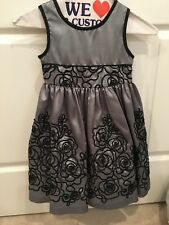 Jayne Copeland Children's Clothing Holiday Celebration Dress Size 4 Steel Gray